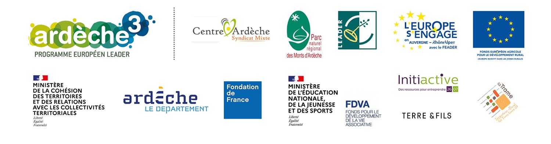 Logos des partenaires du tiers-lieu le Vesseaux-Mère